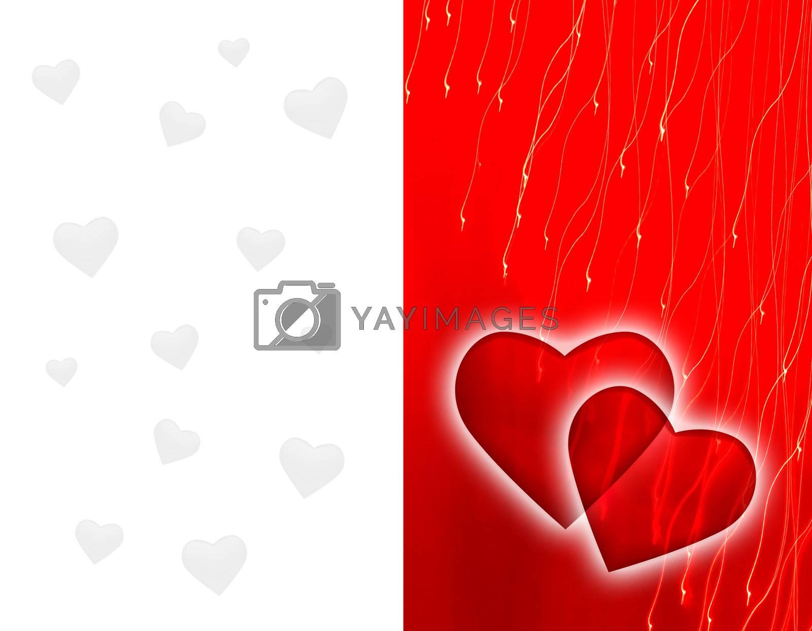 Royalty free image of St. Valentine Day's background. by wojciechkozlowski