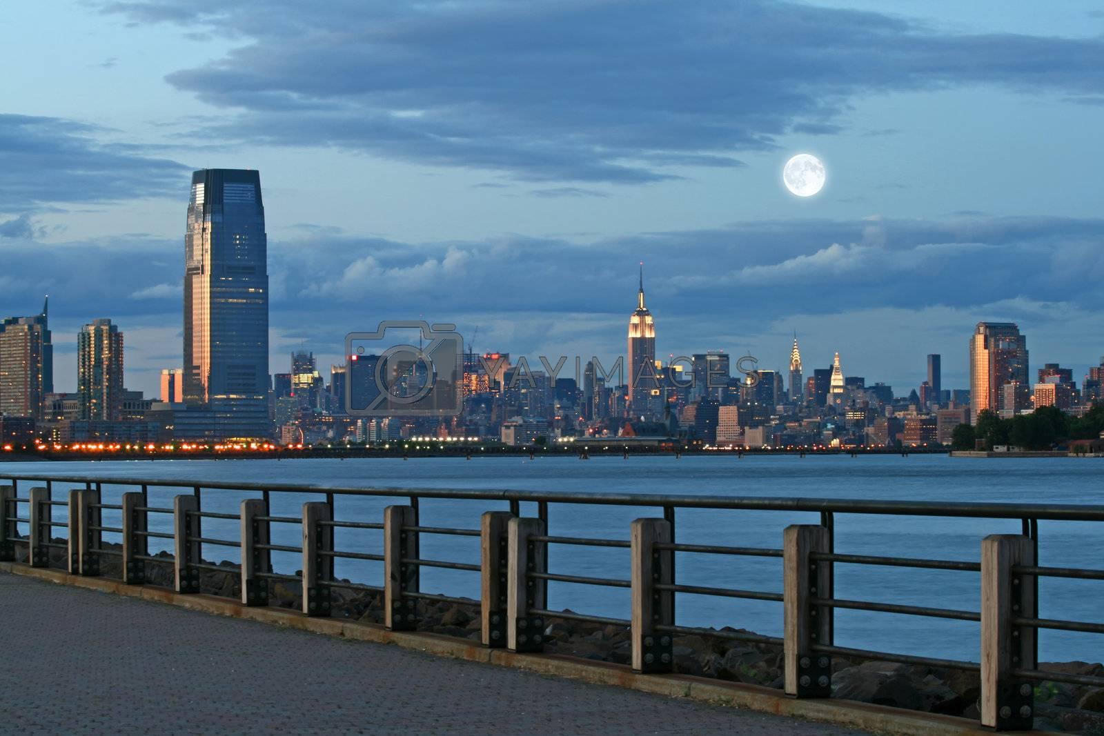 The Mid-town Manhattan Skyline in New York City