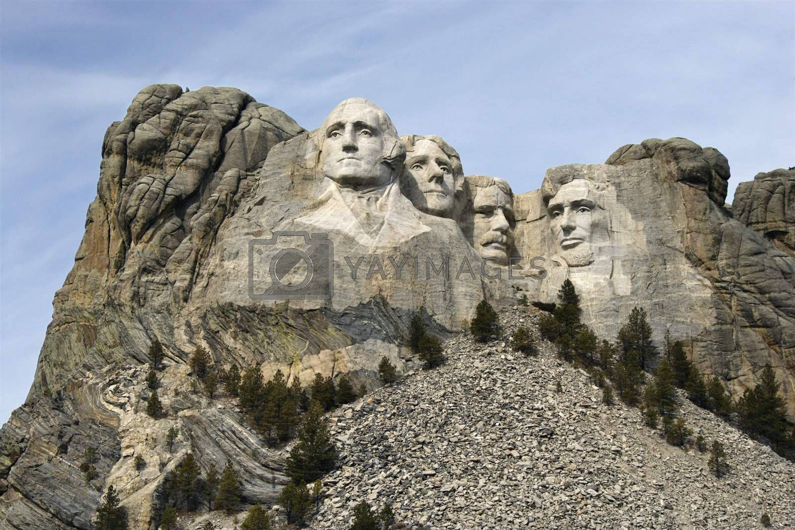Mount Rushmore Monument. by iofoto