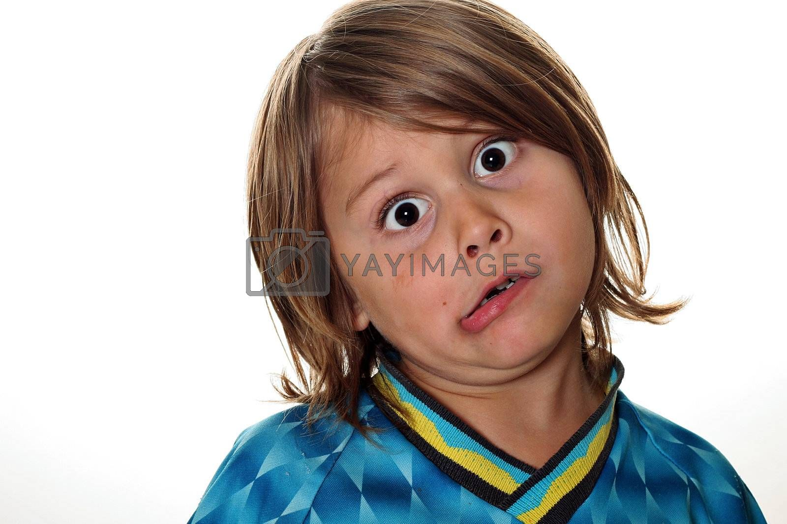 funny face little boy