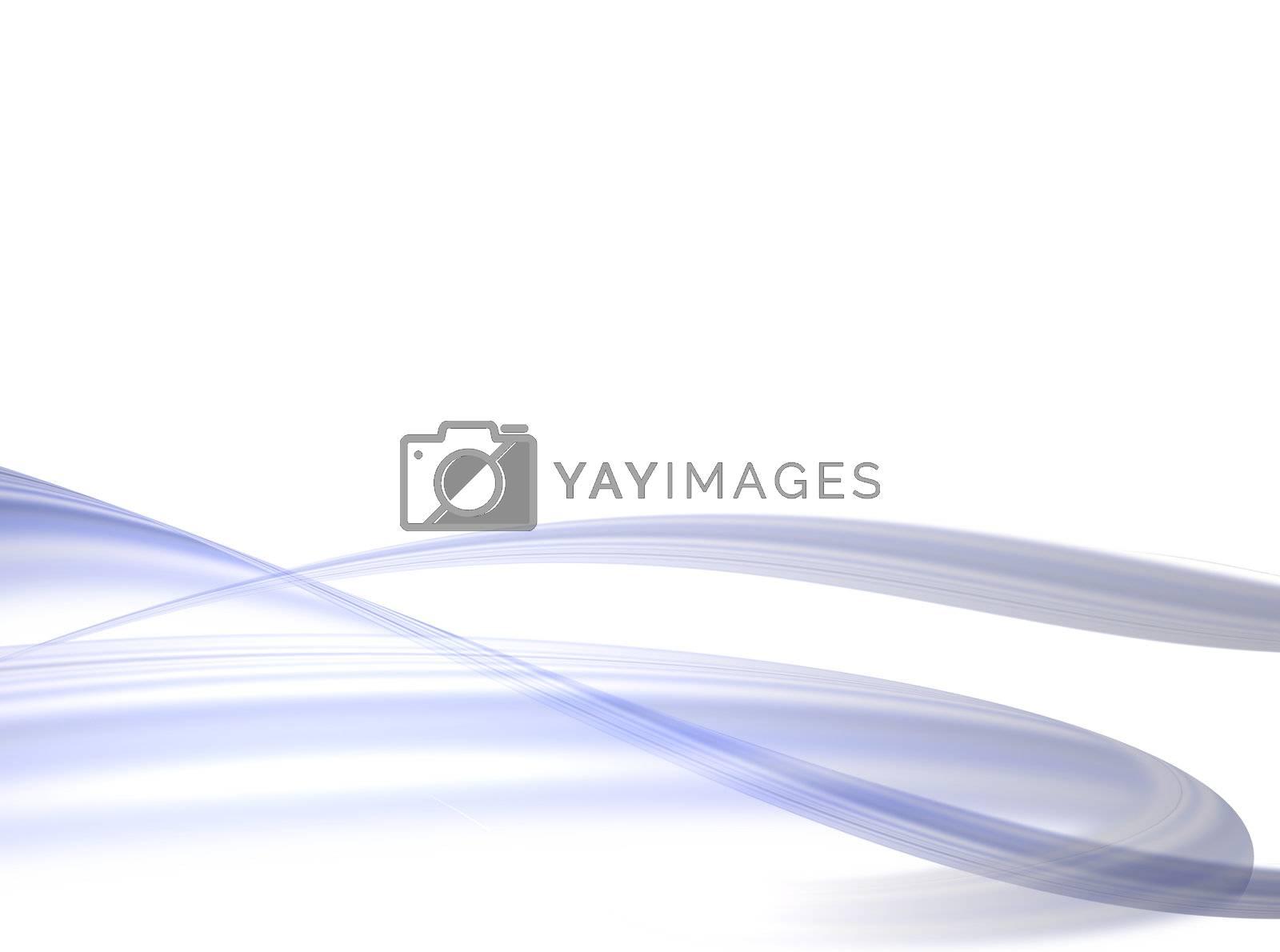 blue waves on white background