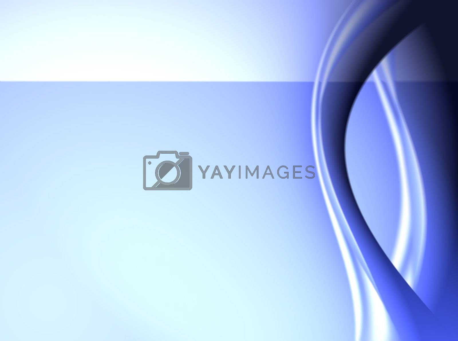 blue dynamic waves on abstract background. illustration