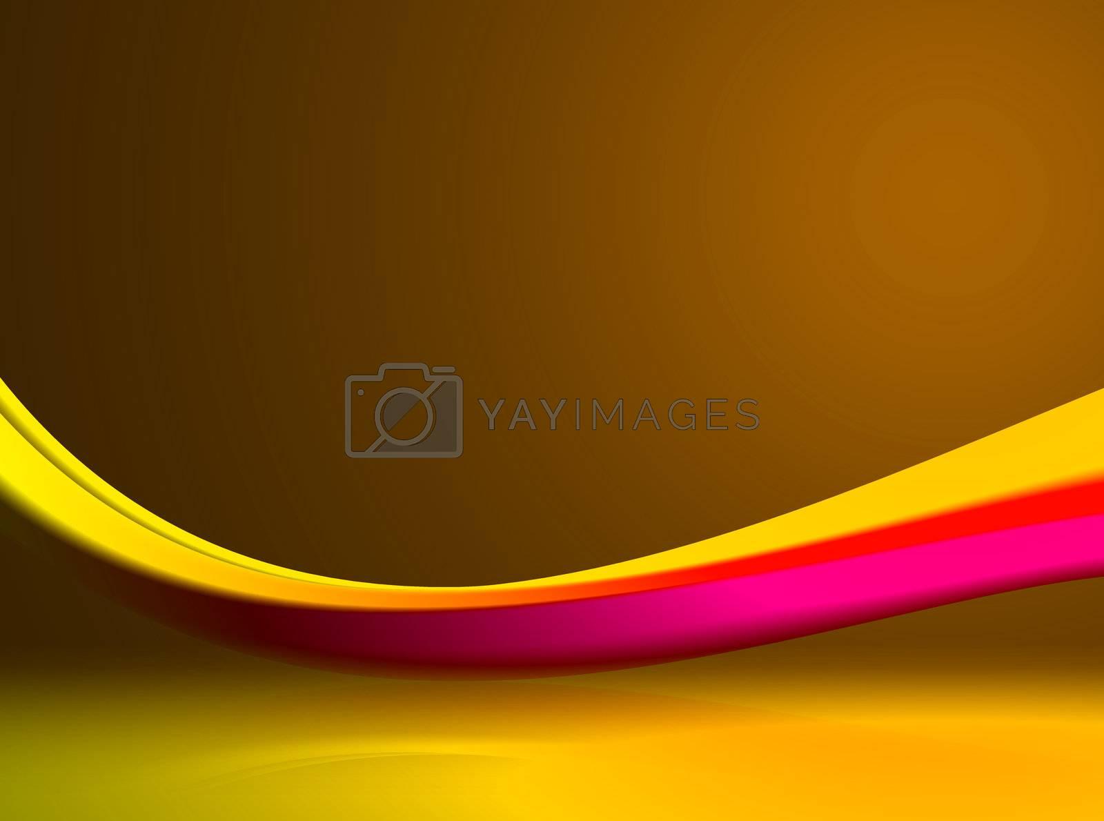 yellow, magenta and orange design. abstract illustration