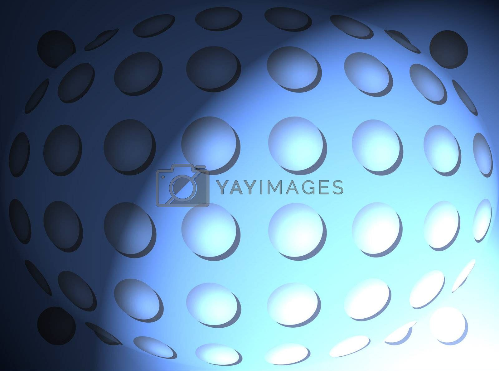 blue dynamic and abstract background with light effects.