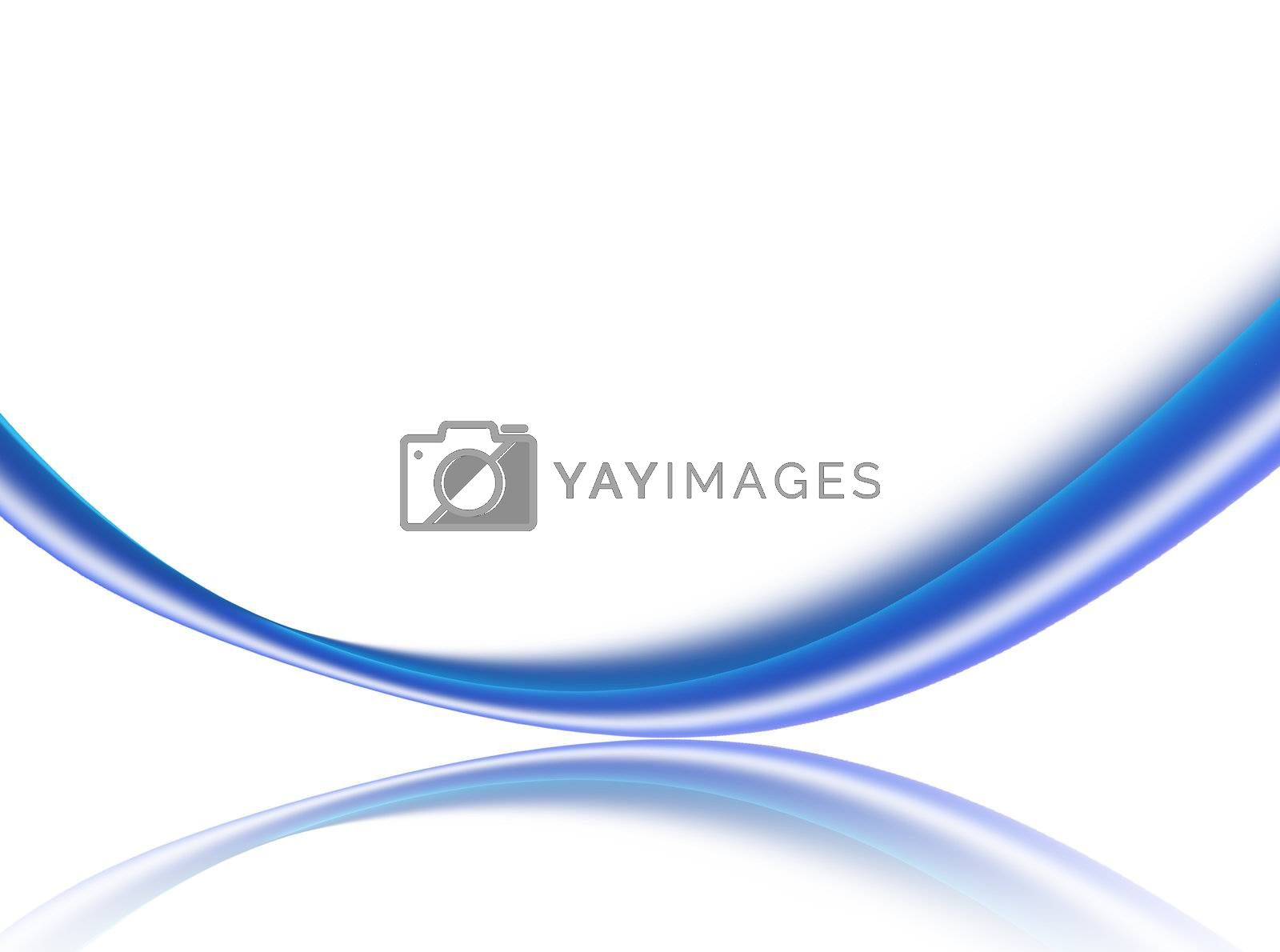 blue dynamic wave on white background. abstract illustration