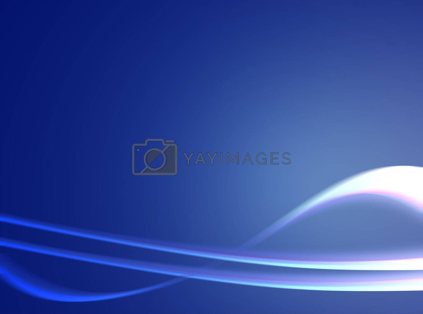 dynamic waves on blue background with light effect