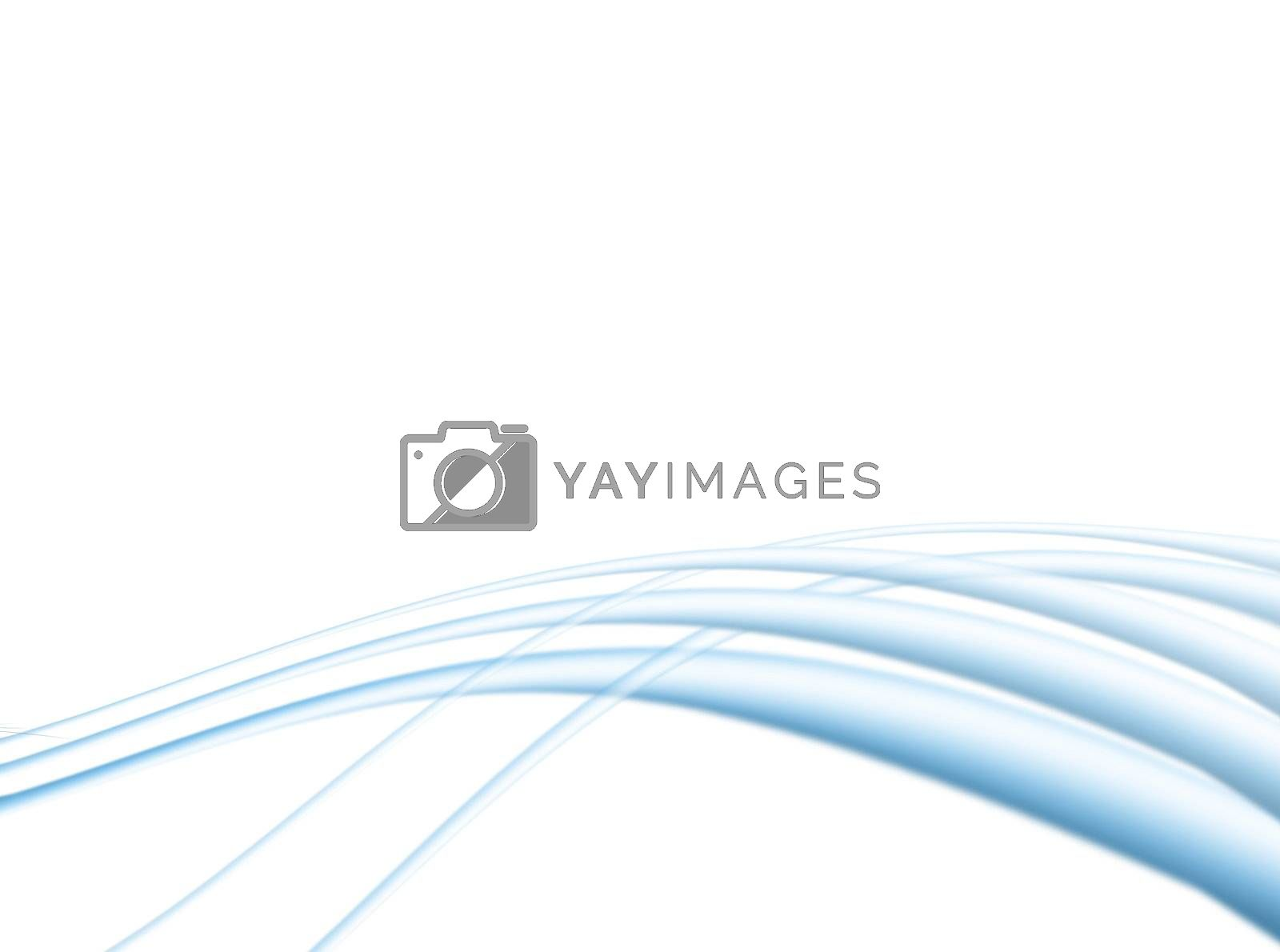 soft dynamic waves on white background. illustration