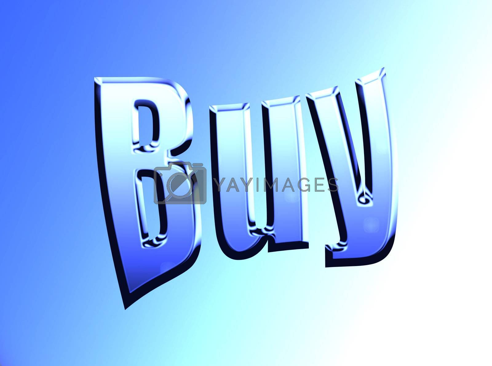 buy text on blue and white background with light effects