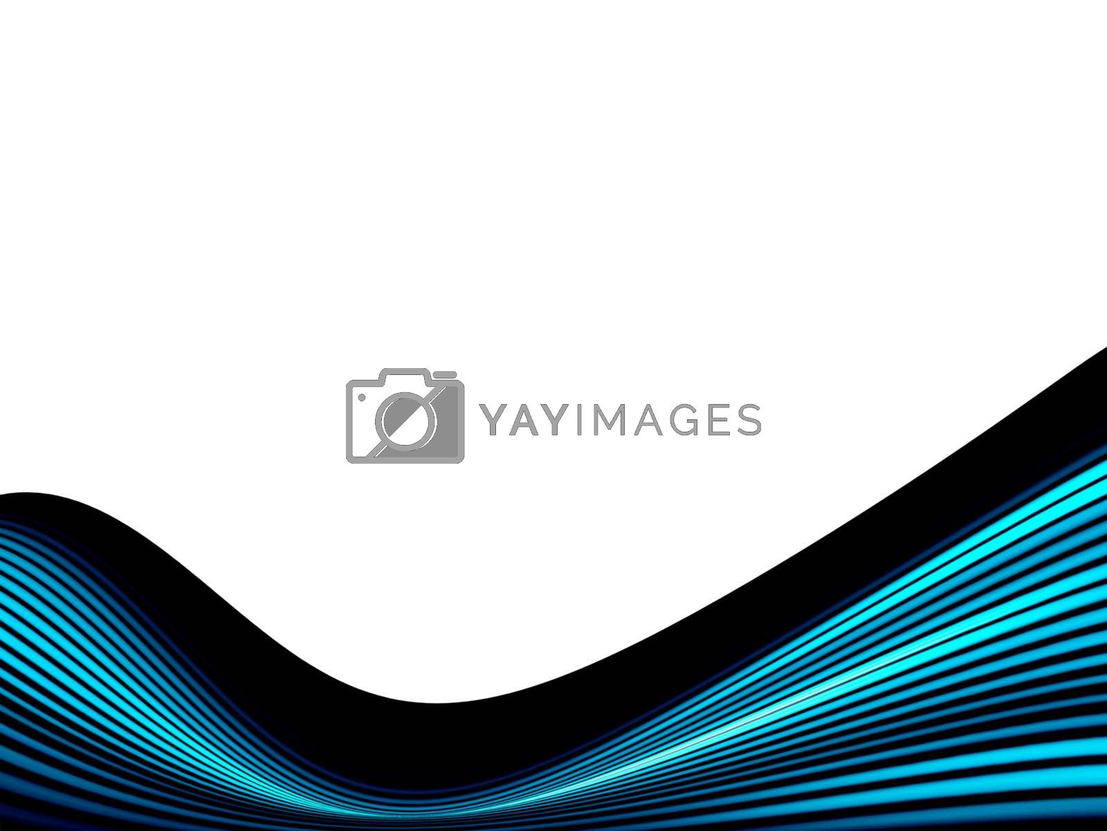 blue and black dynamic wave on white background