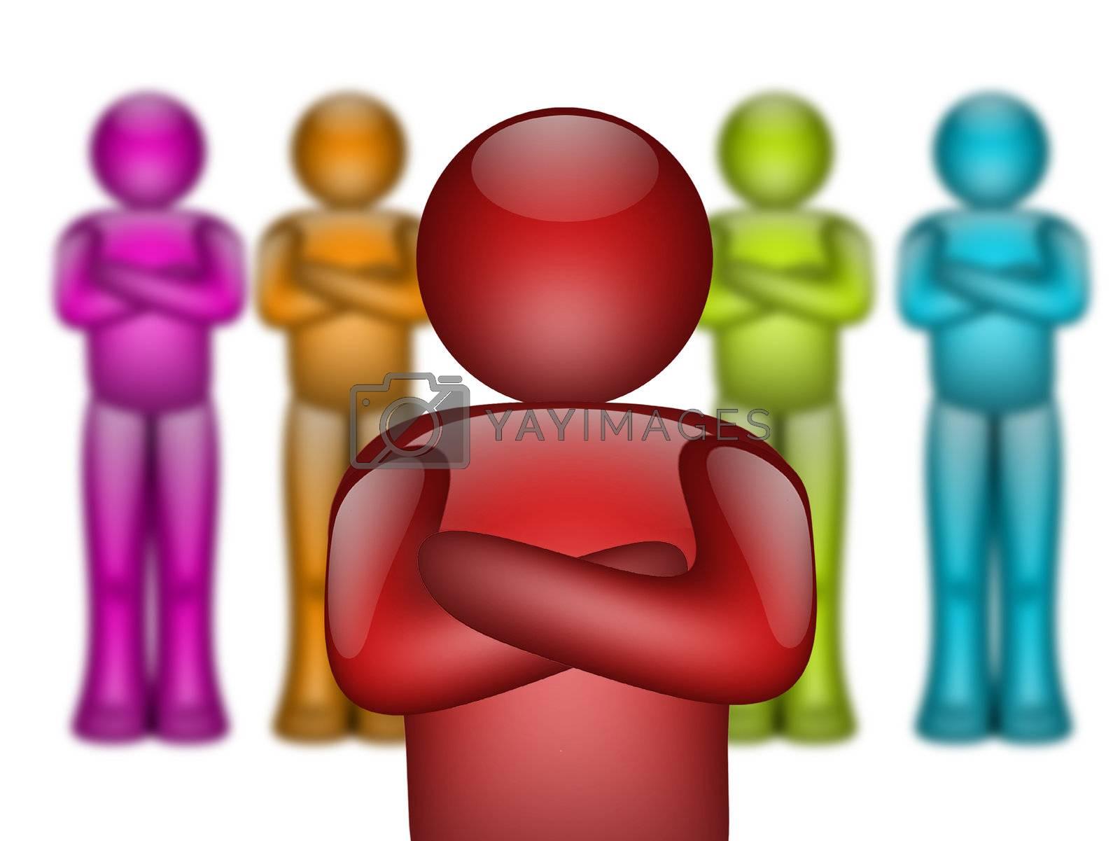 people team colors 3d