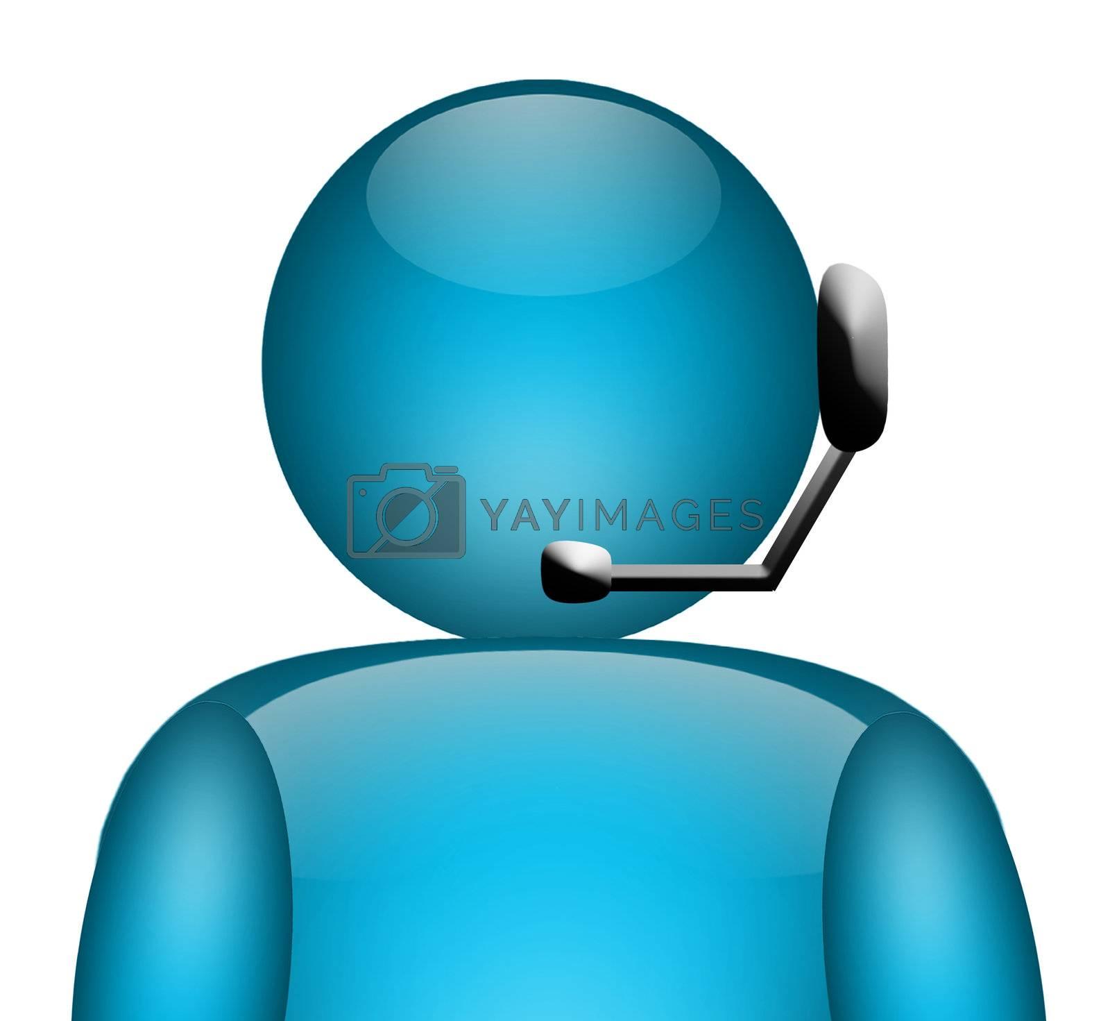 call telephone operator illustration