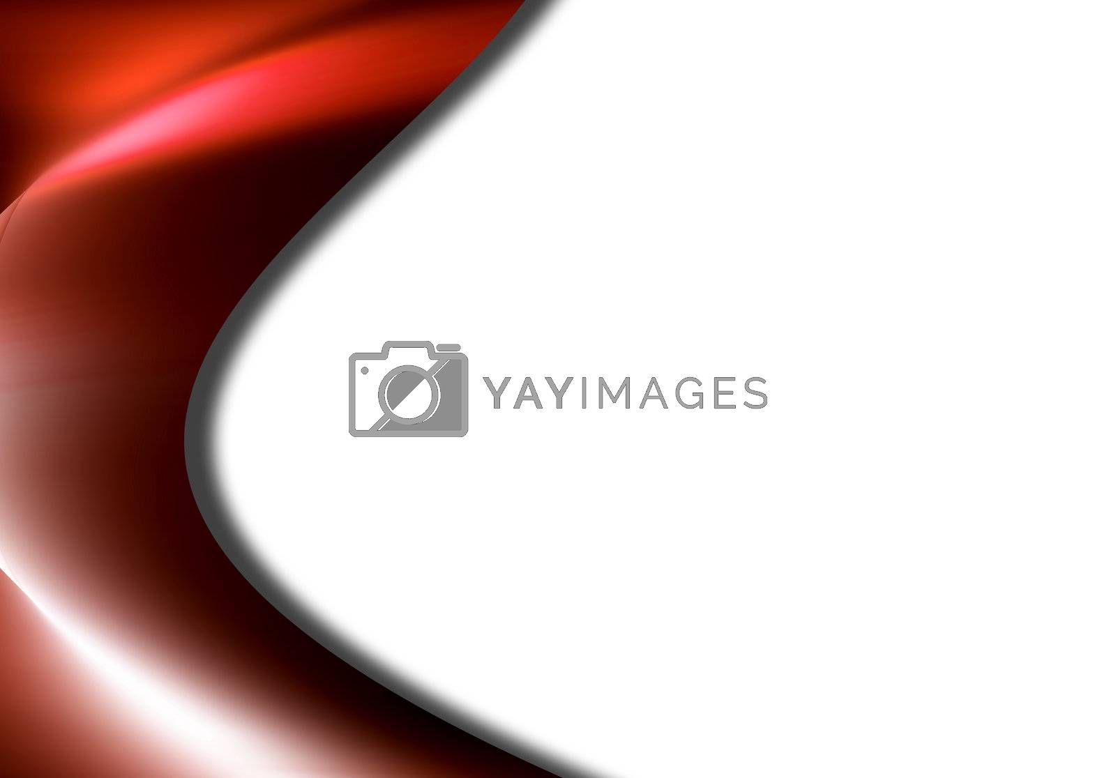 red effect background, lateral style