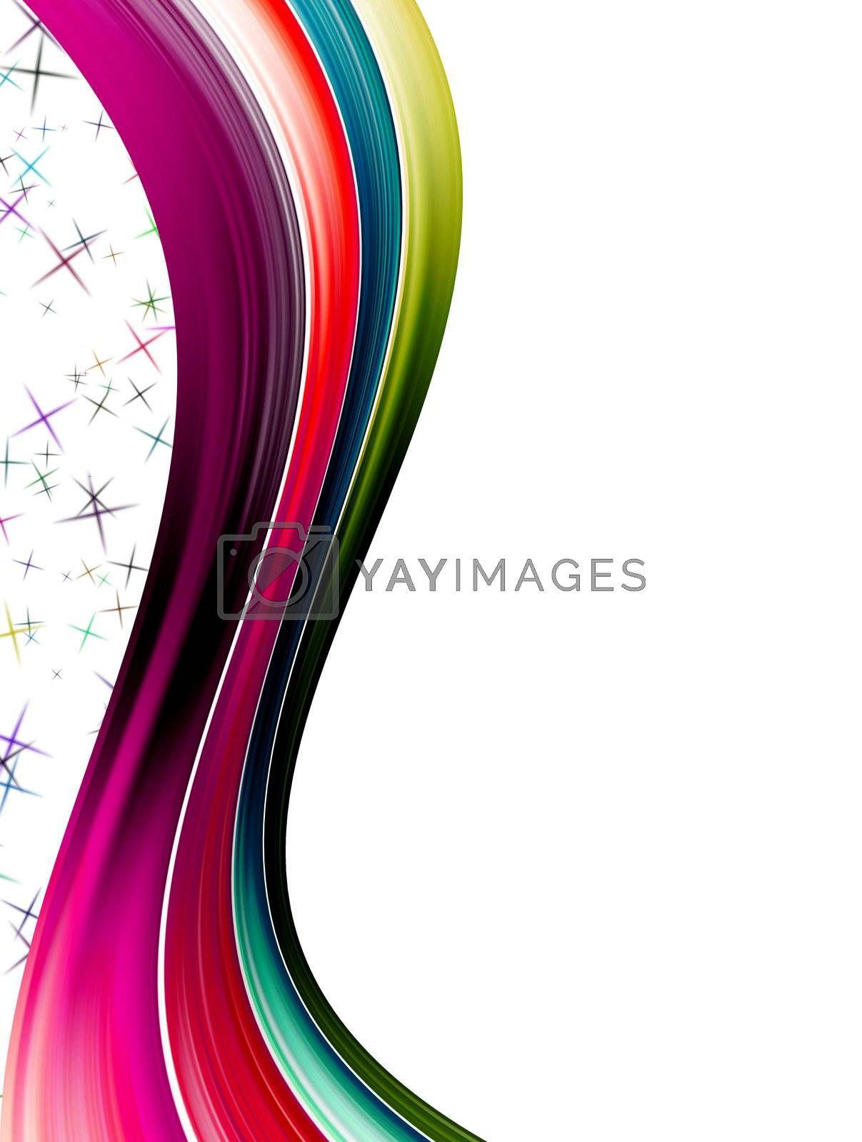 multicolor wave design, abstract illustration