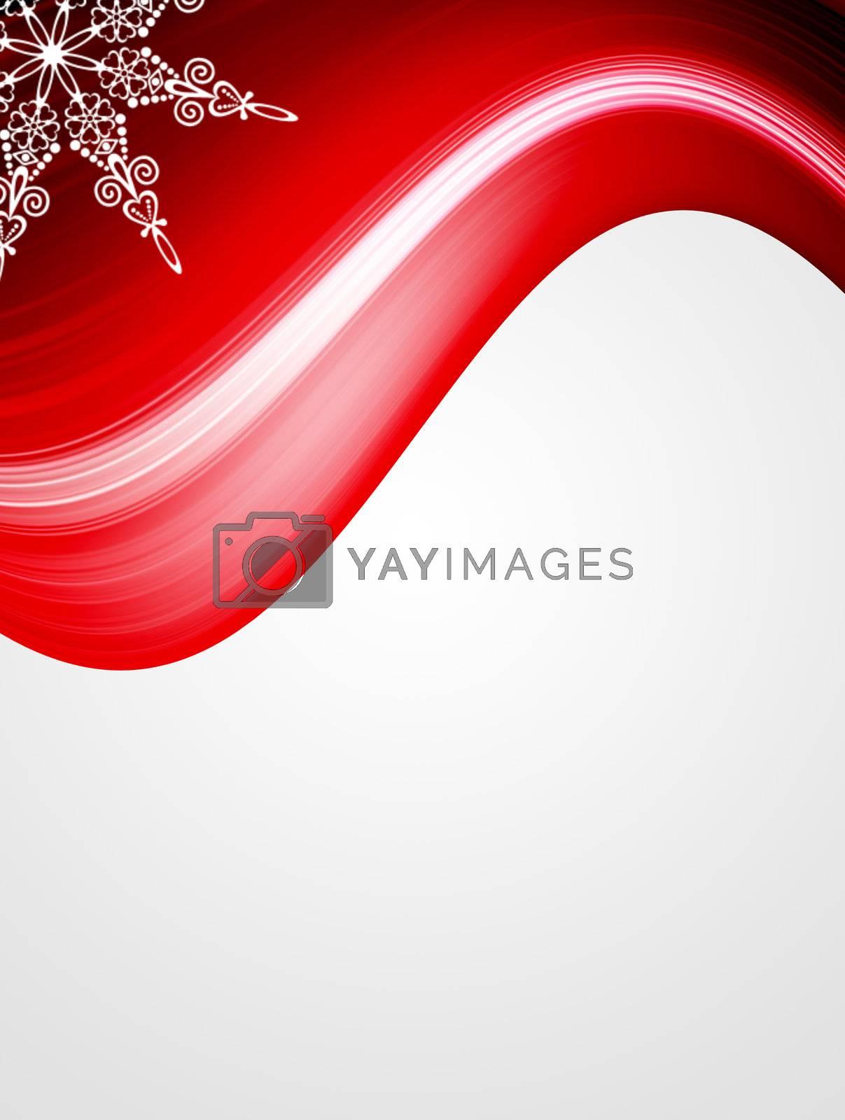 red wave background, dynamic illustration