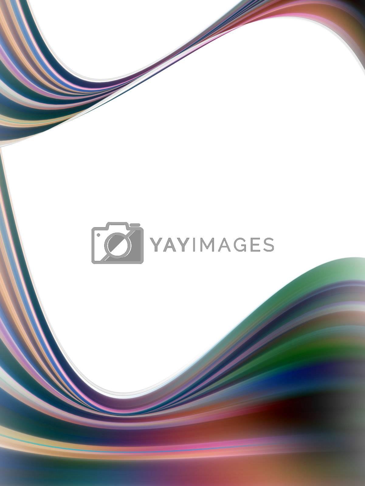 dynamic waves on white background