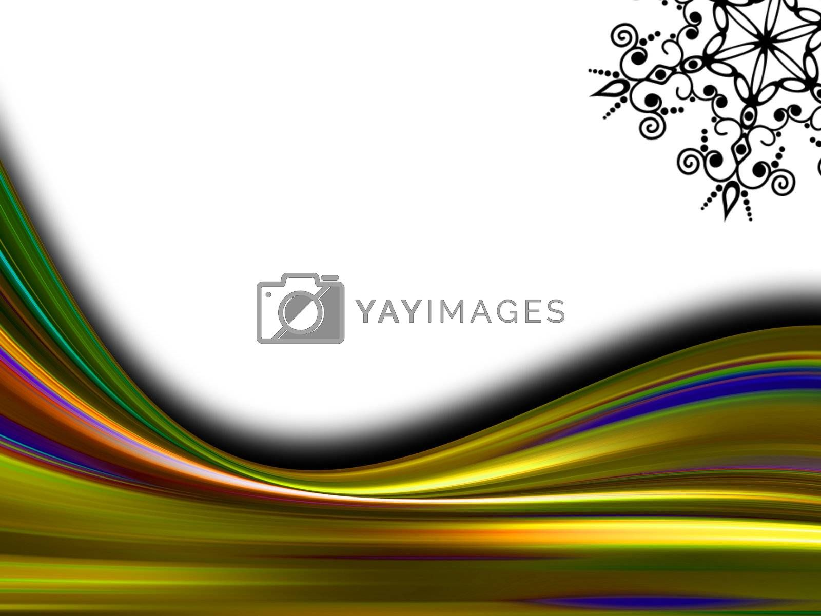 yellow waves on white background