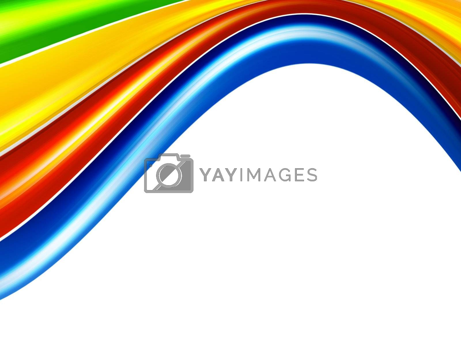 color waves background, green, orange, red and blue