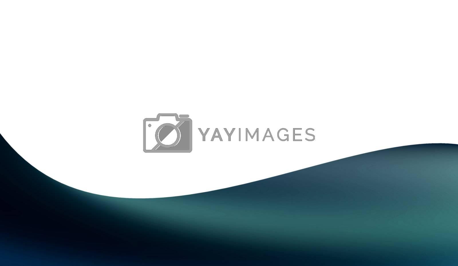 blue minimalist wave on white background