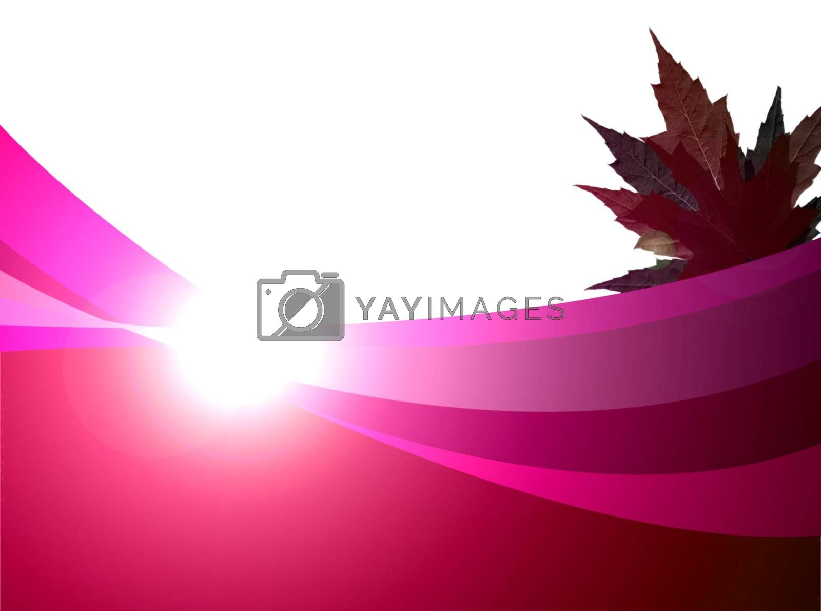 conceptual illustration morning, red design