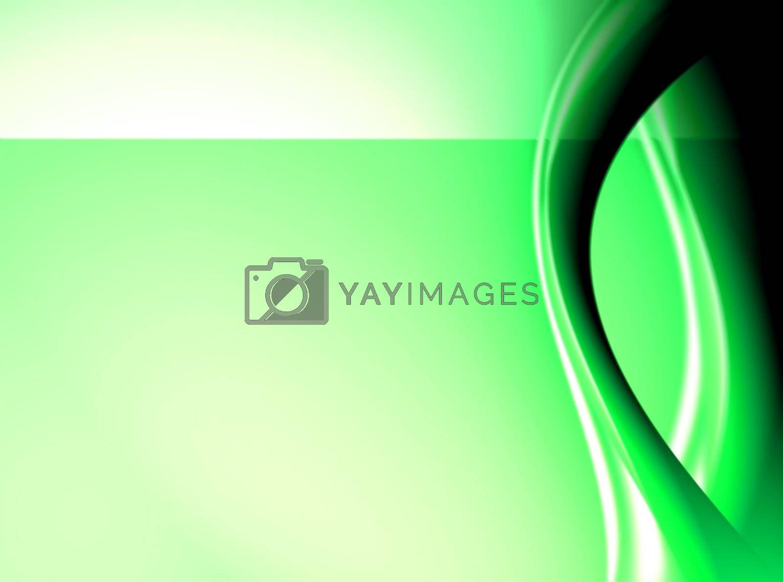 green abstract waves with light effects