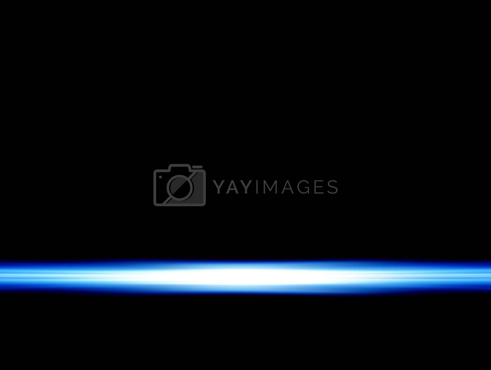 blue ray on black background