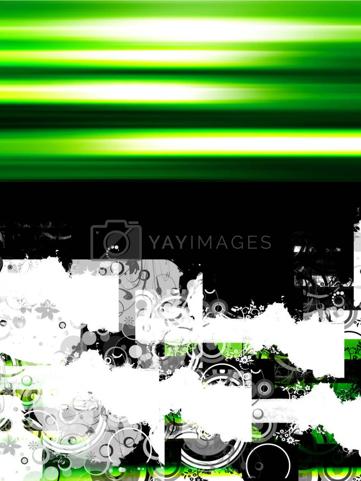 green design whit sample text