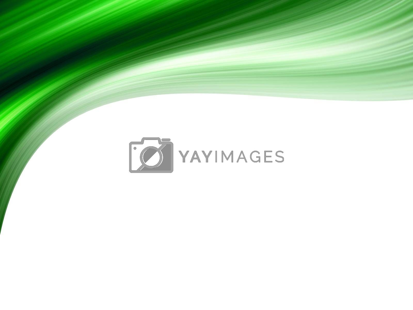 green dynamic wave on top of the image