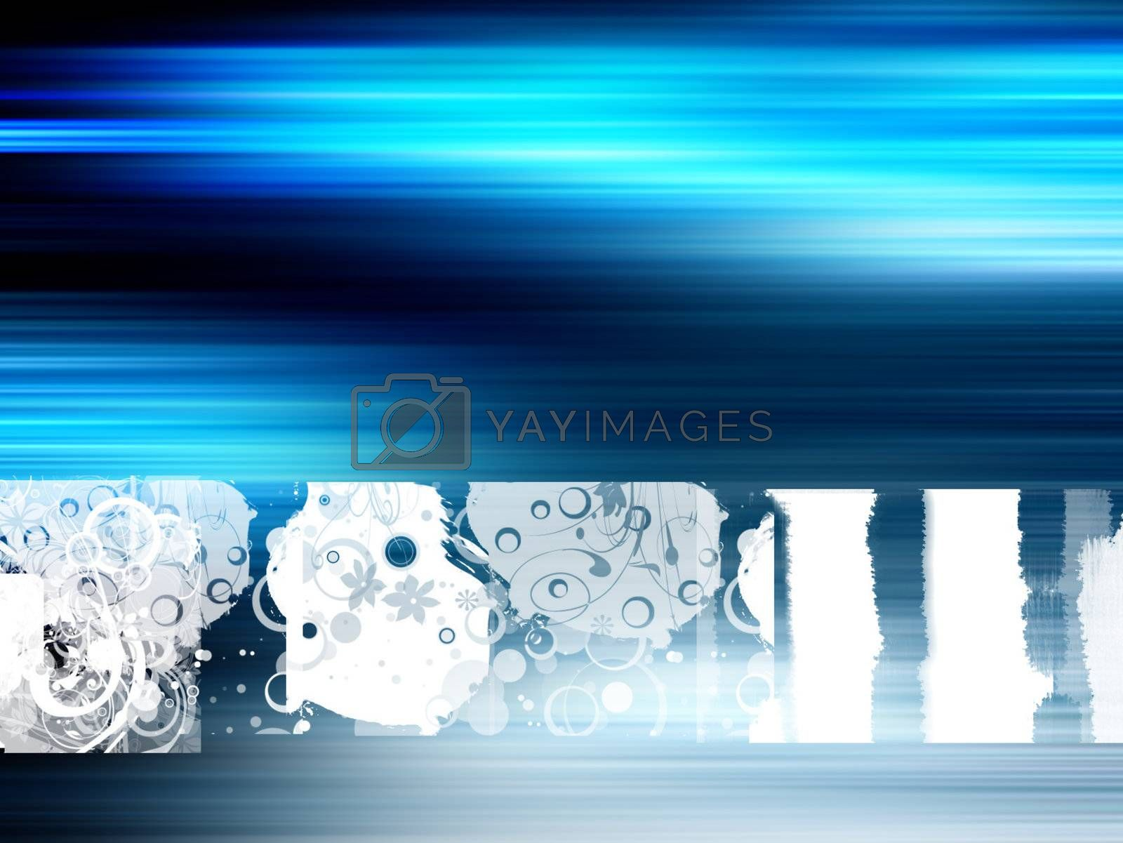 blue design. colors blue, white and black, abstract illustration