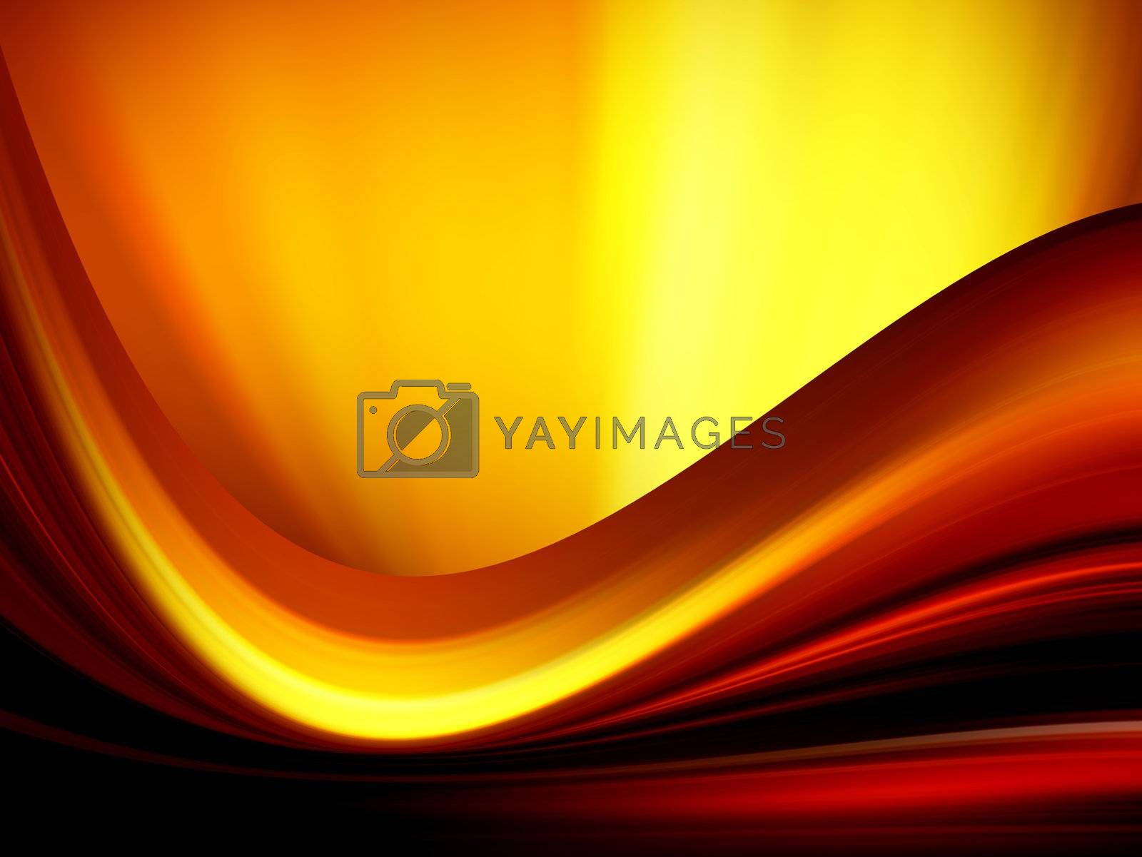 dynamic wave background, illustration of conceptual fire