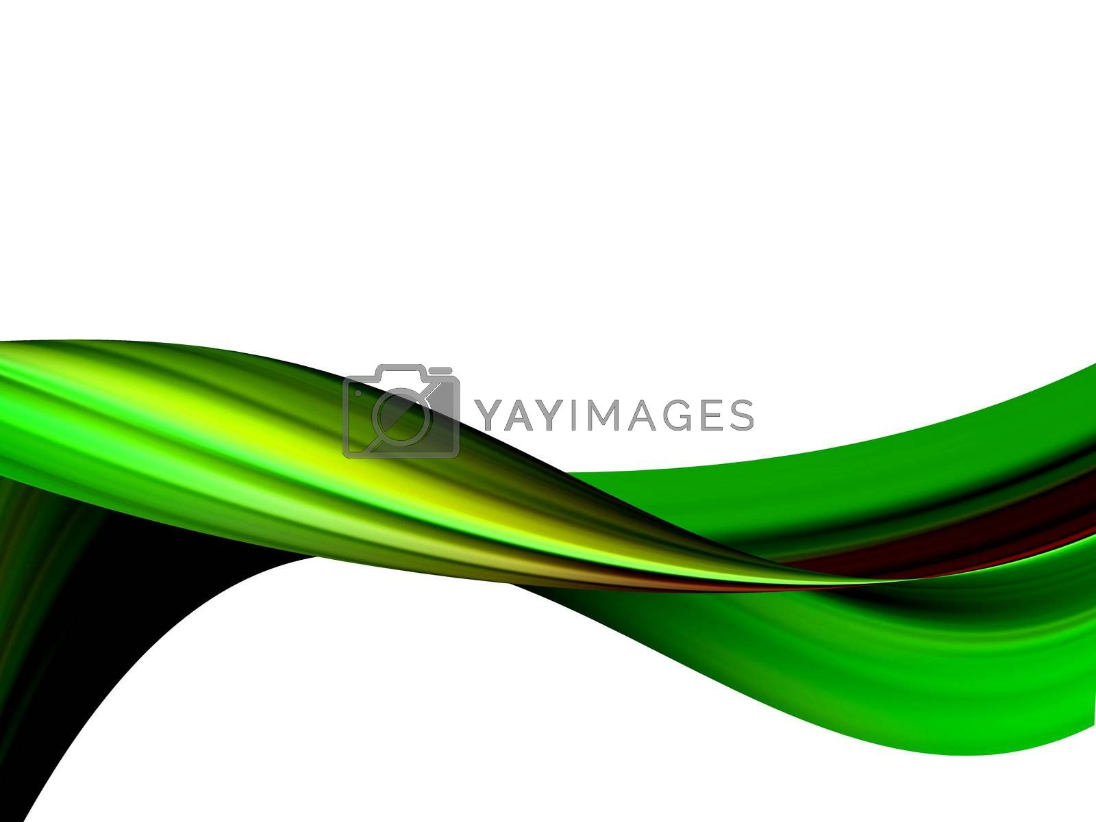 green dynamic wave on white background. illustration