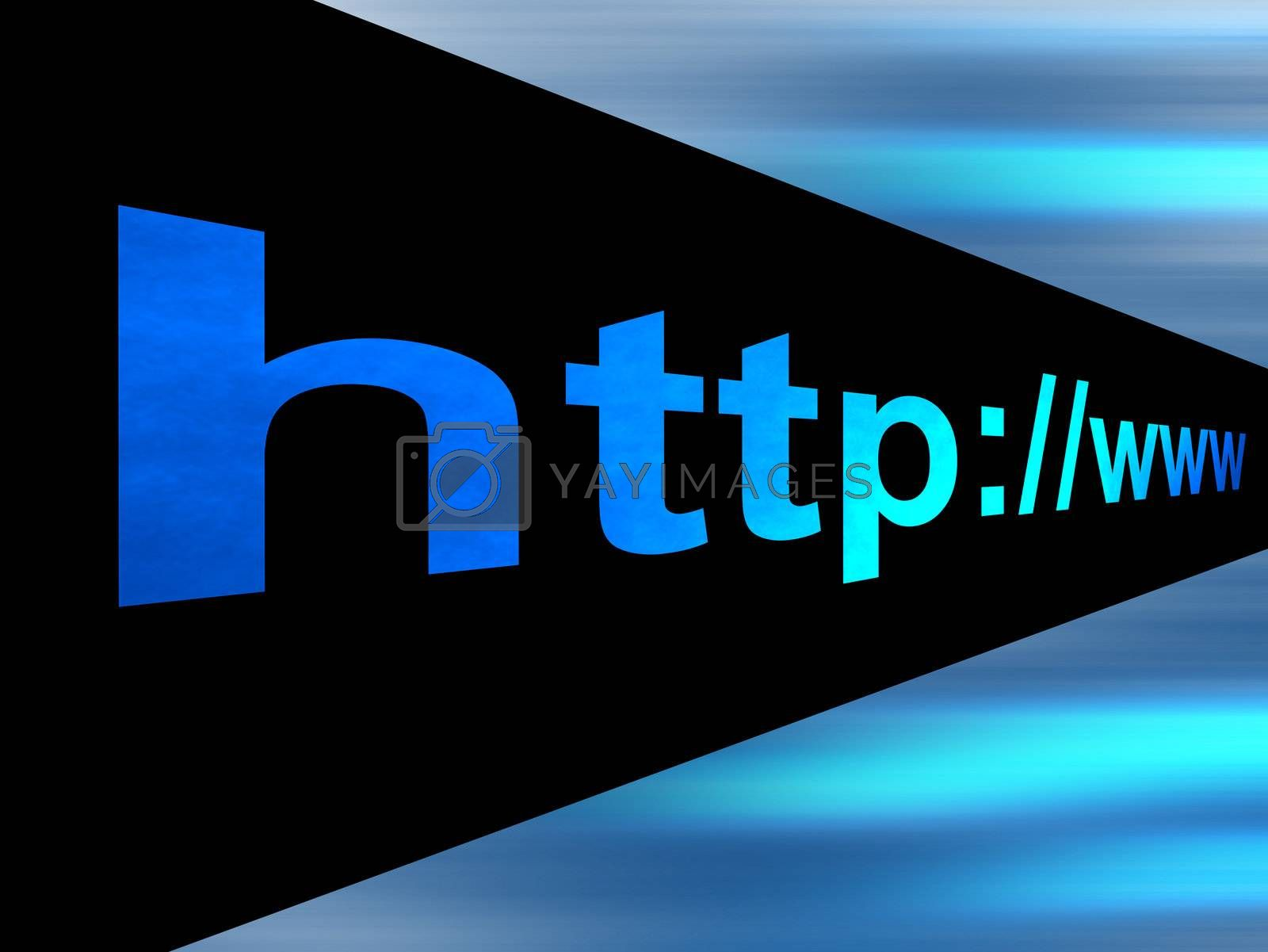 blue and black image with url text