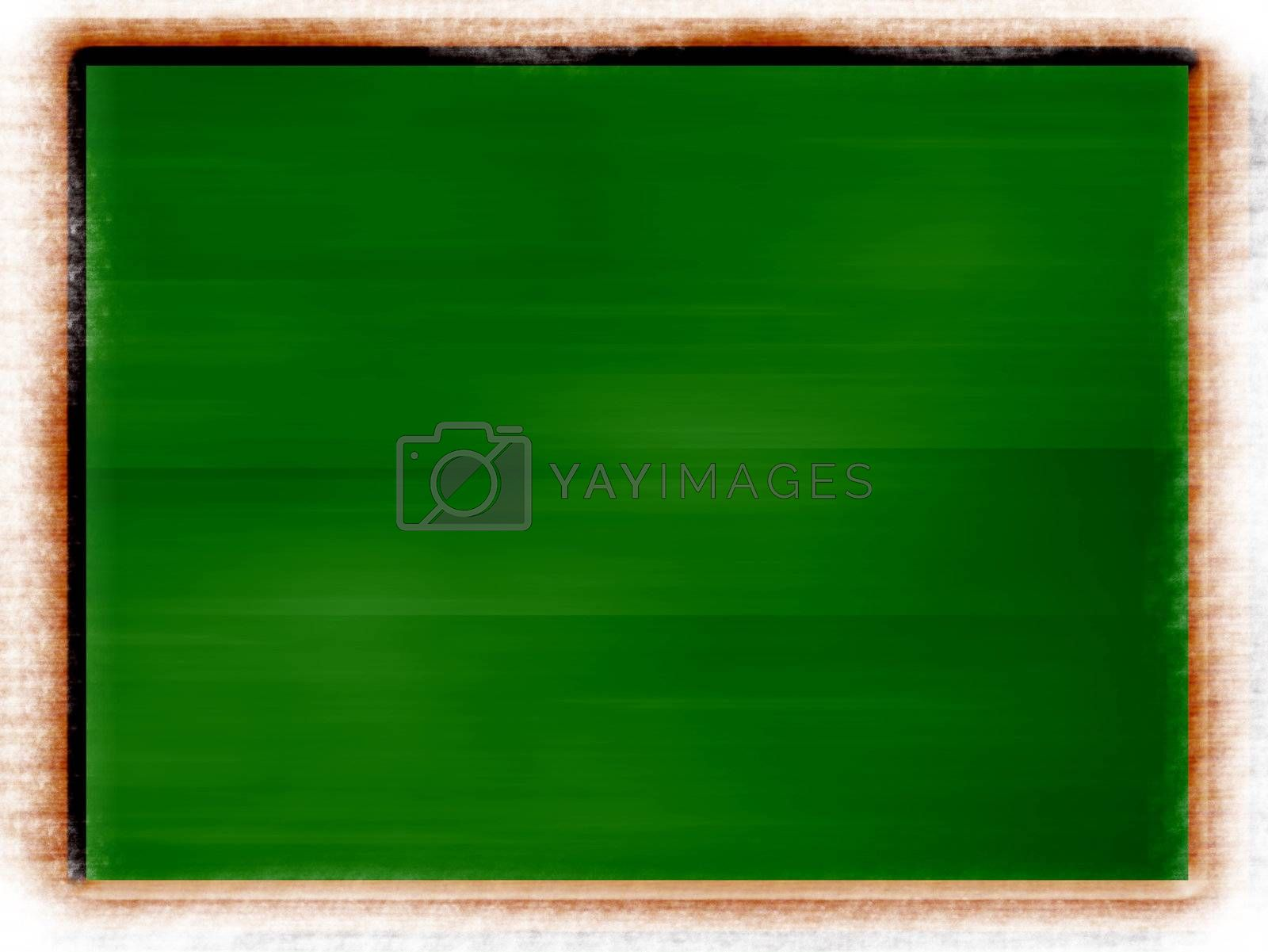 green board illustration on white background with blur frame