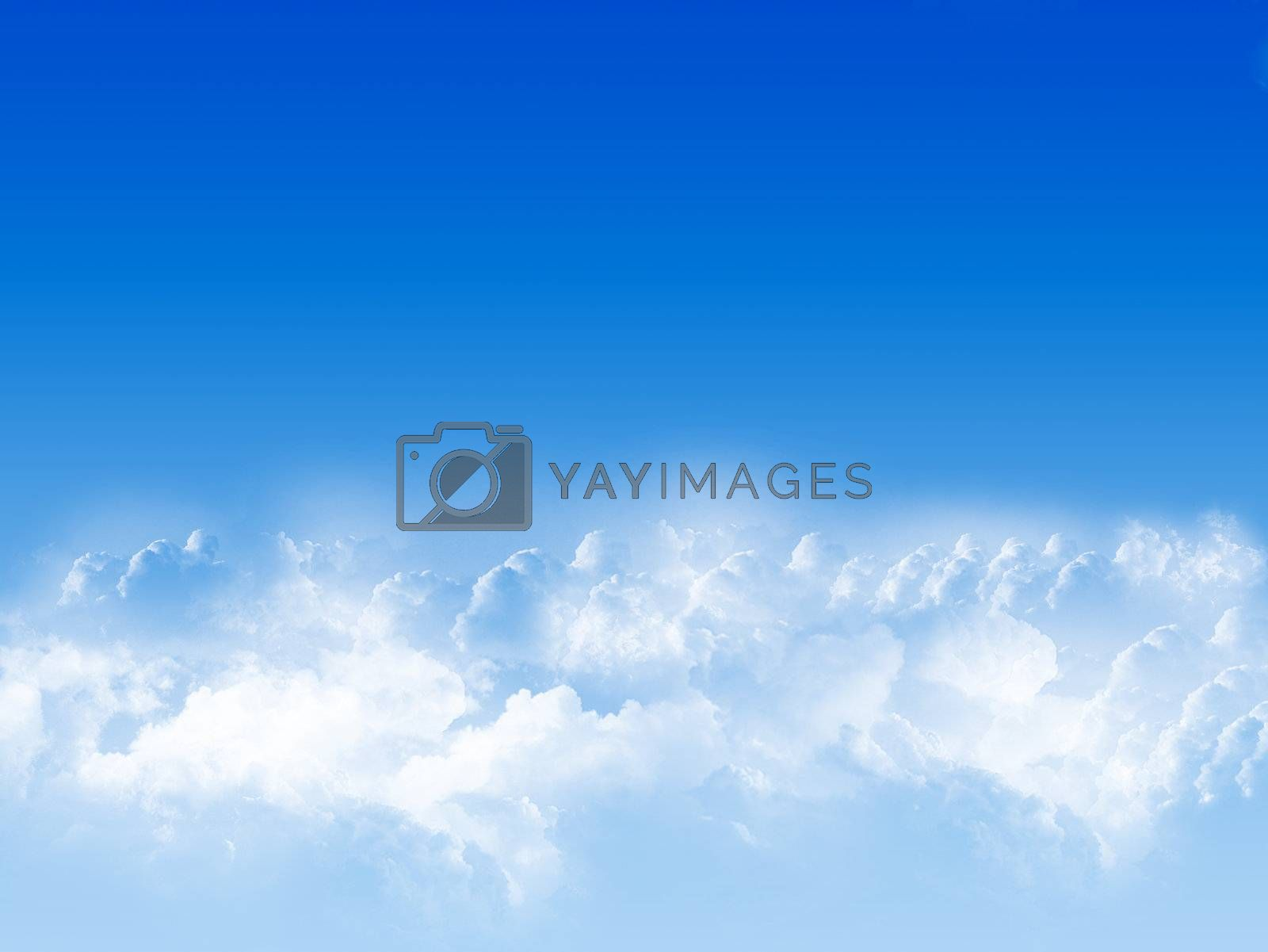 blue sky with white clouds. image illustration