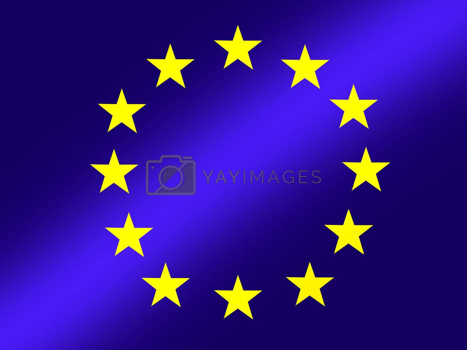 european union, blue flag with yellow stars