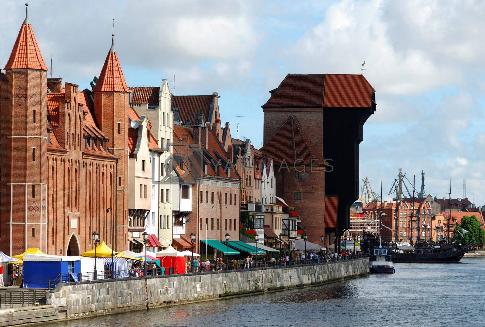 Gdansk in Poland during Saint Dominic Fair
