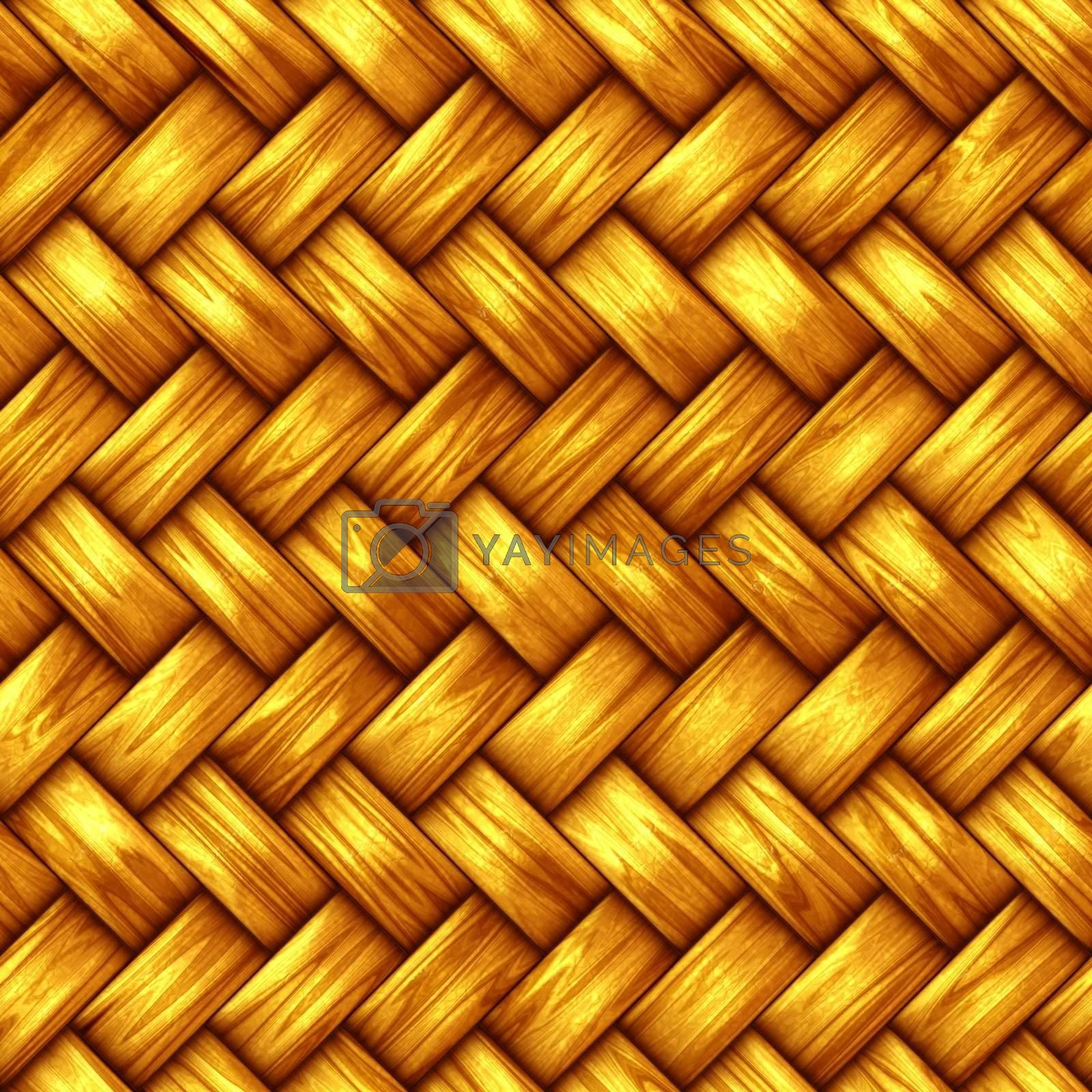 details of seamless intertwined structure in warm yellow