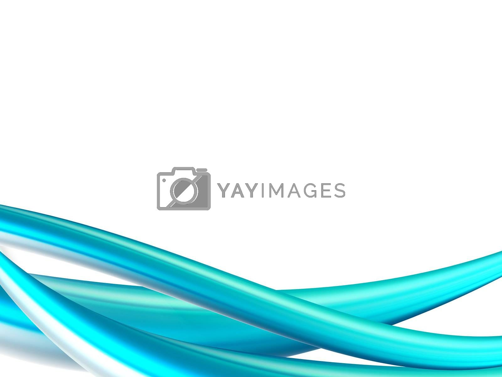 dynamic blue background on white space