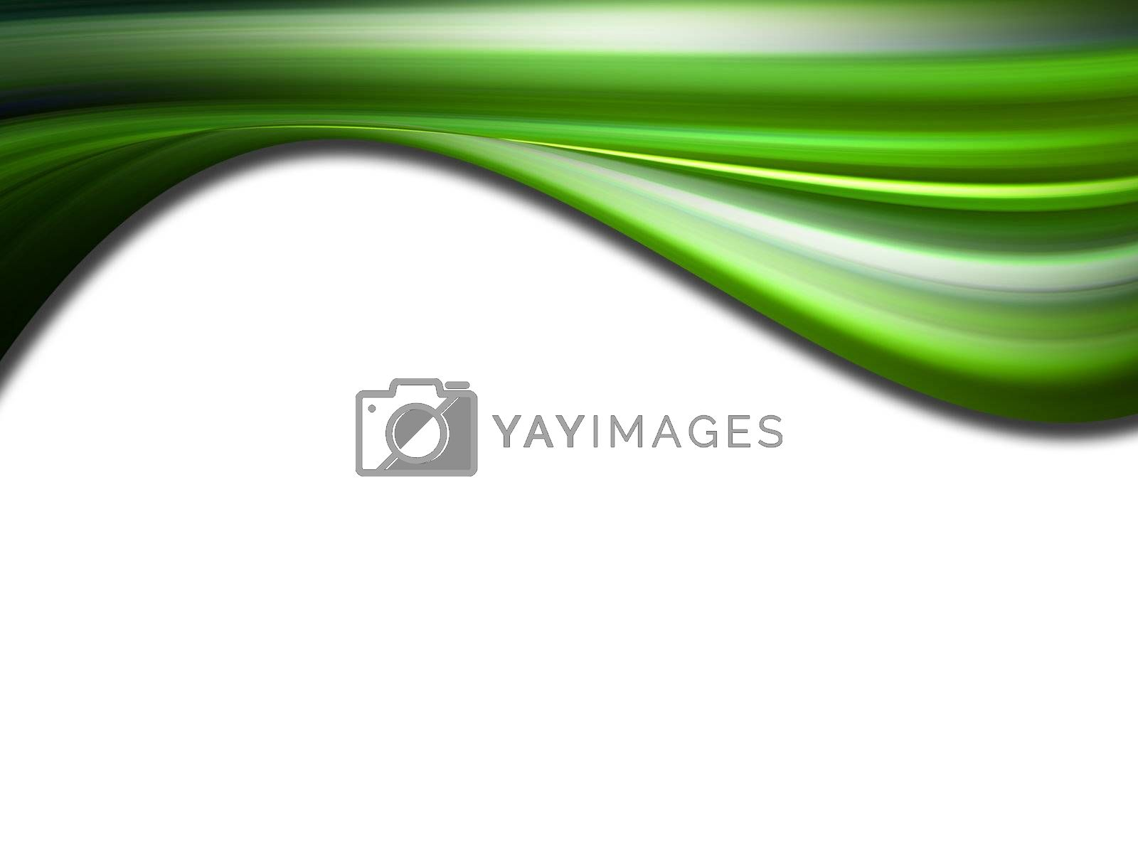 green wave whit texture effect