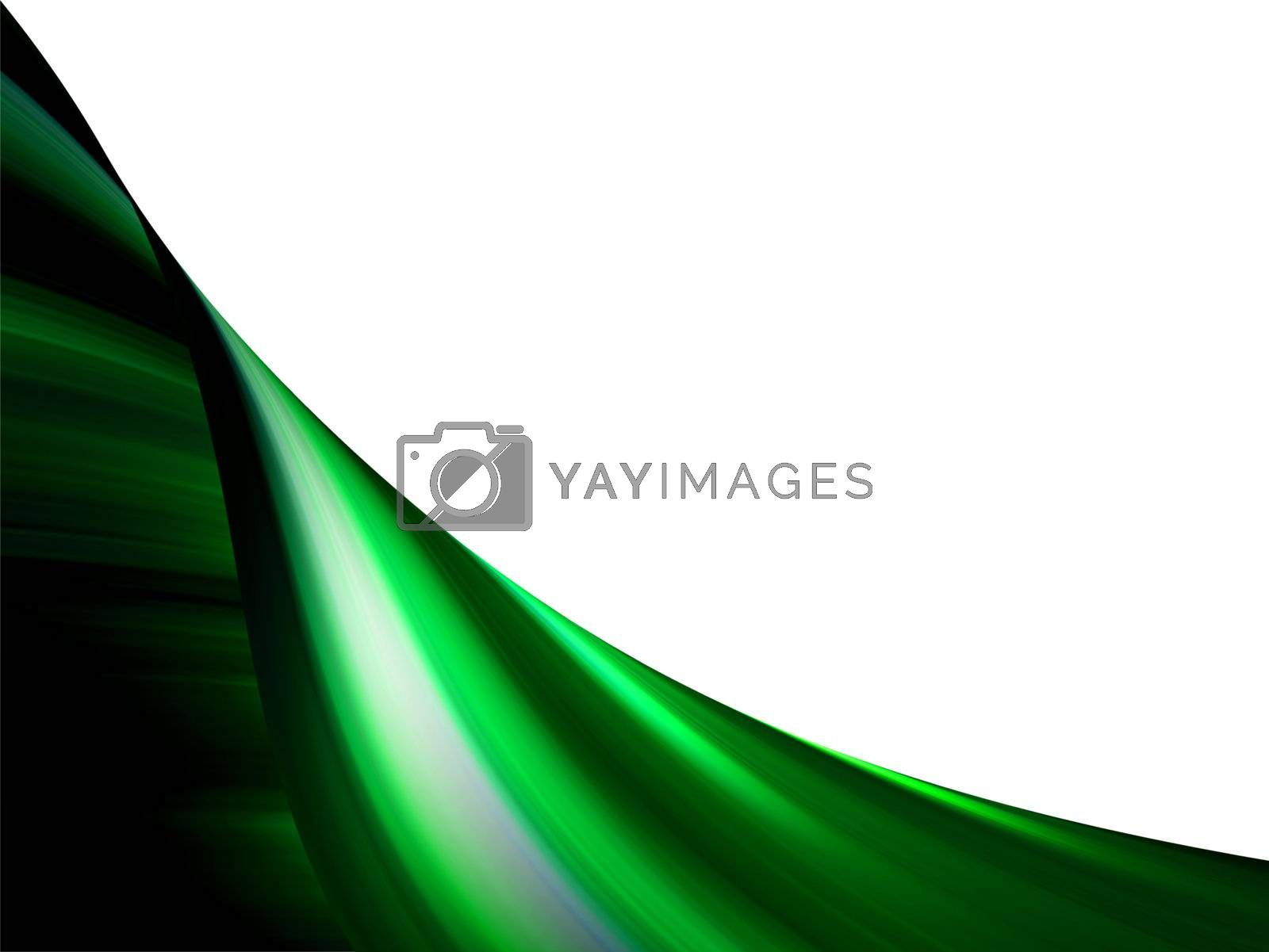 green effect, waves on movement