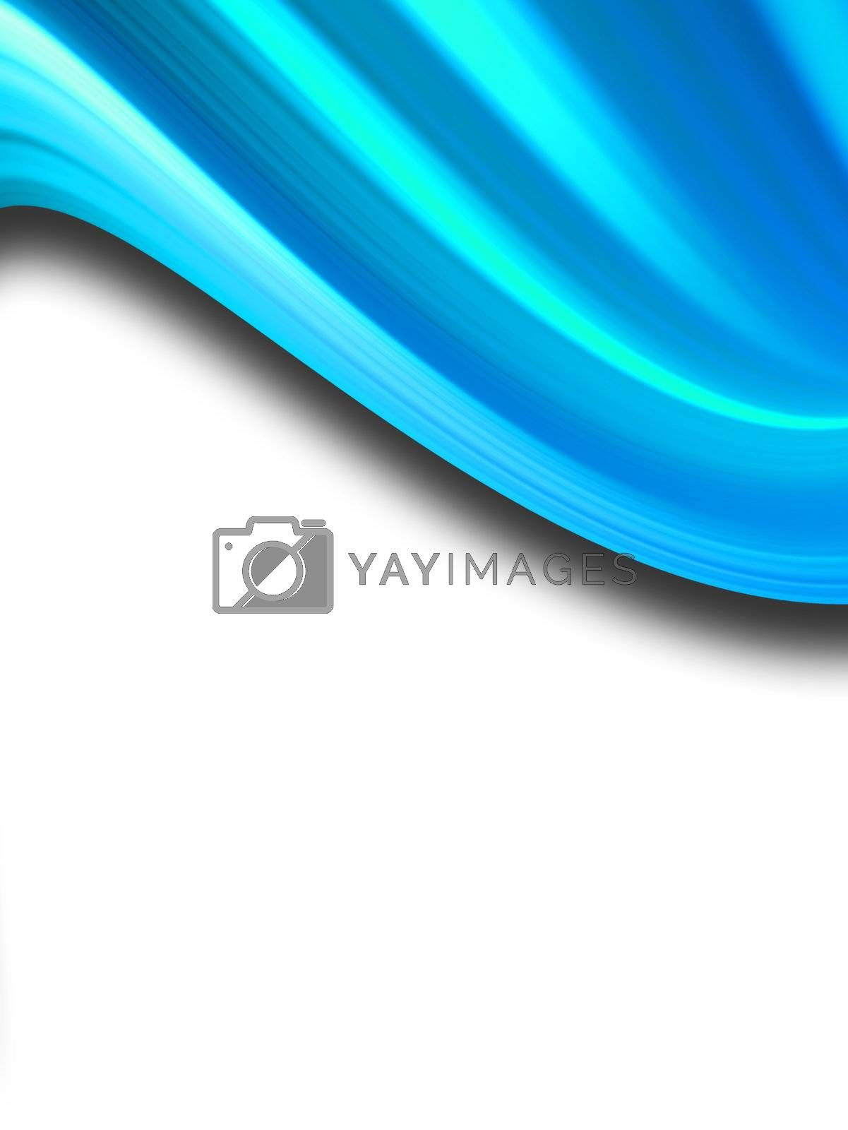 blue effect wave, white background