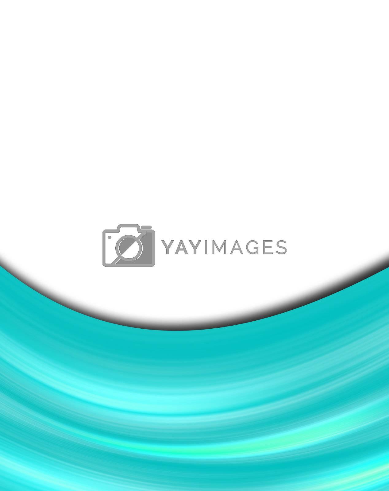 blue dynamic wave on white background. illustration
