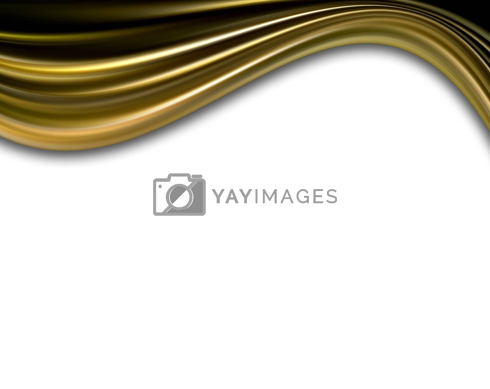 gold dynamic wave on white background