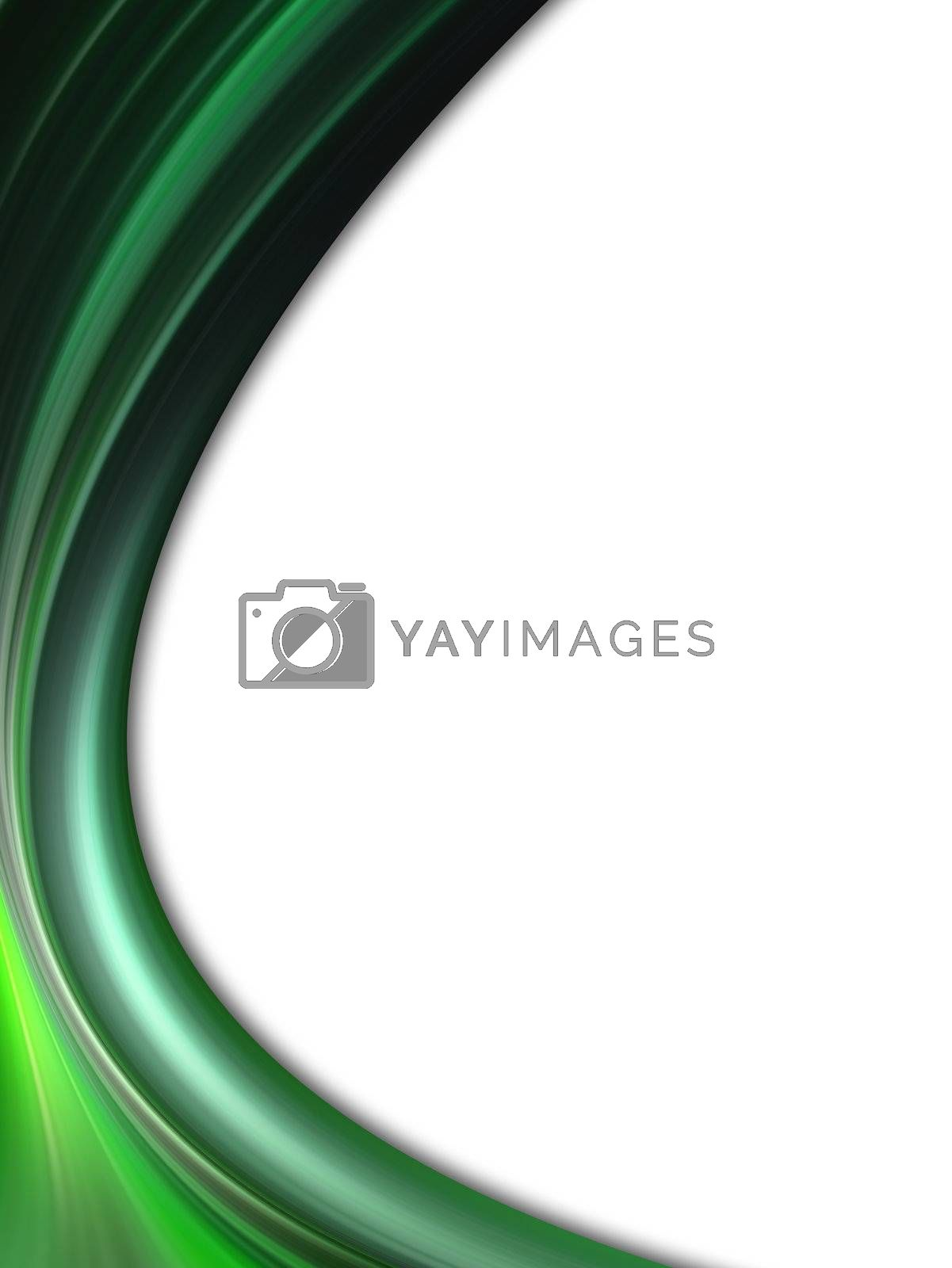 green dynamic wave. abstract background