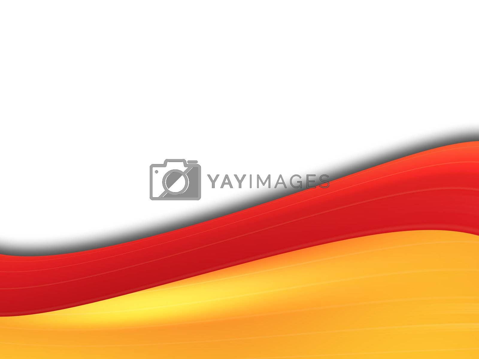 red and orange dynamic waves