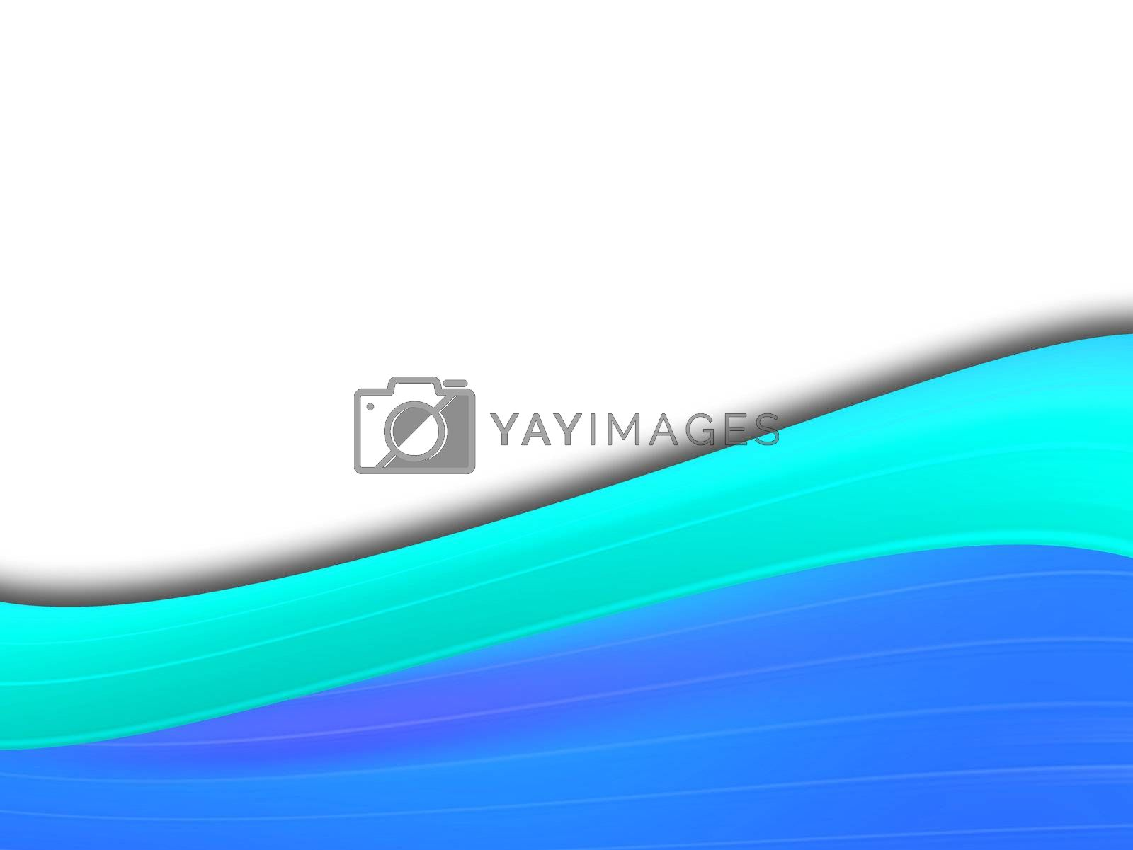blue dynamic wave on white background