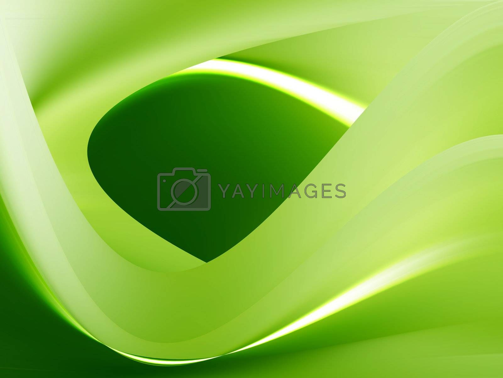green dynamic waves whit contrast