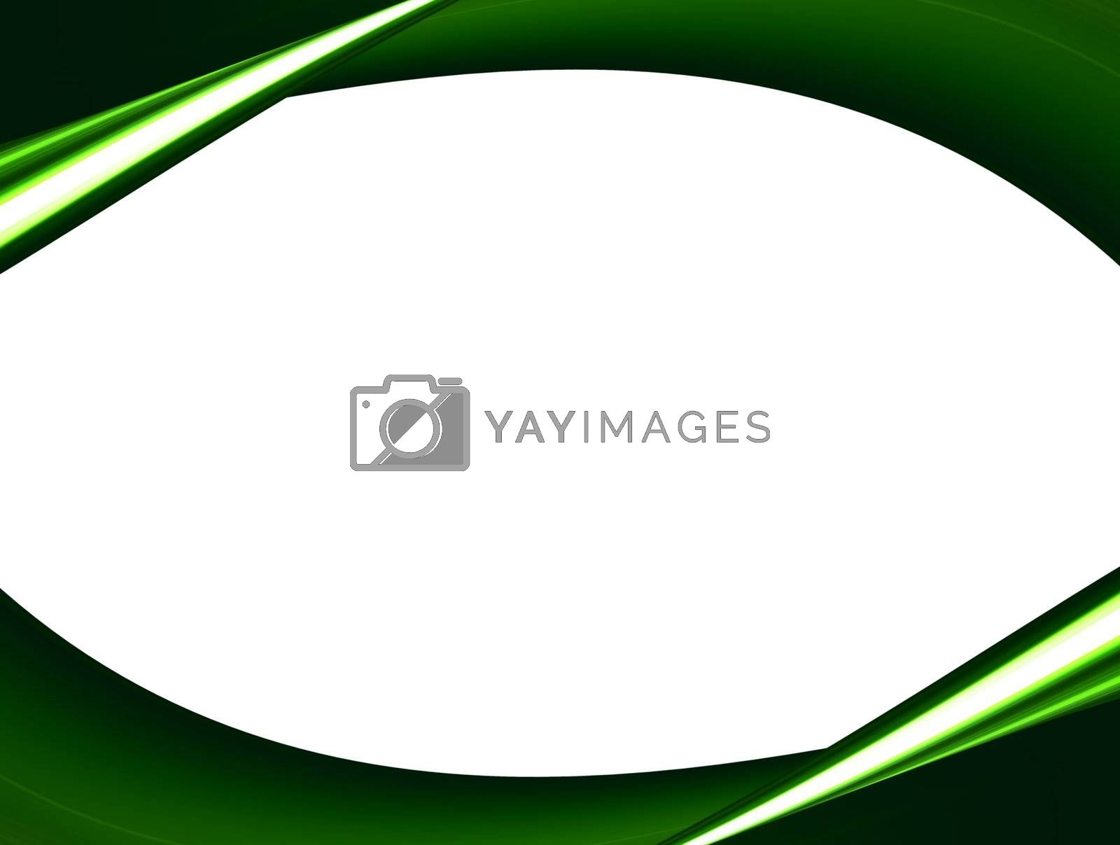 green design with white space