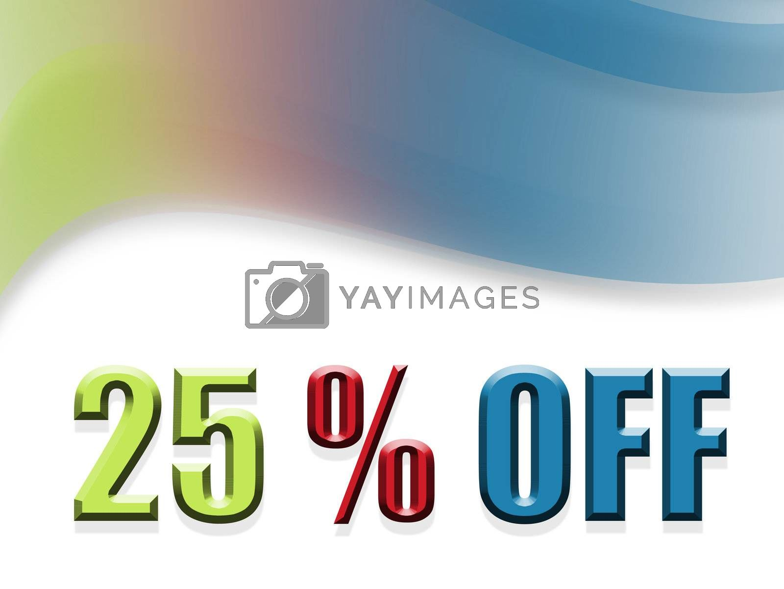 green, red and blue discount design
