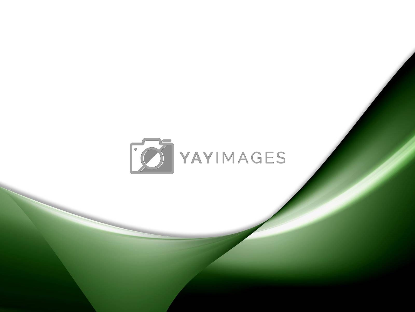 green waves on white background with light effects