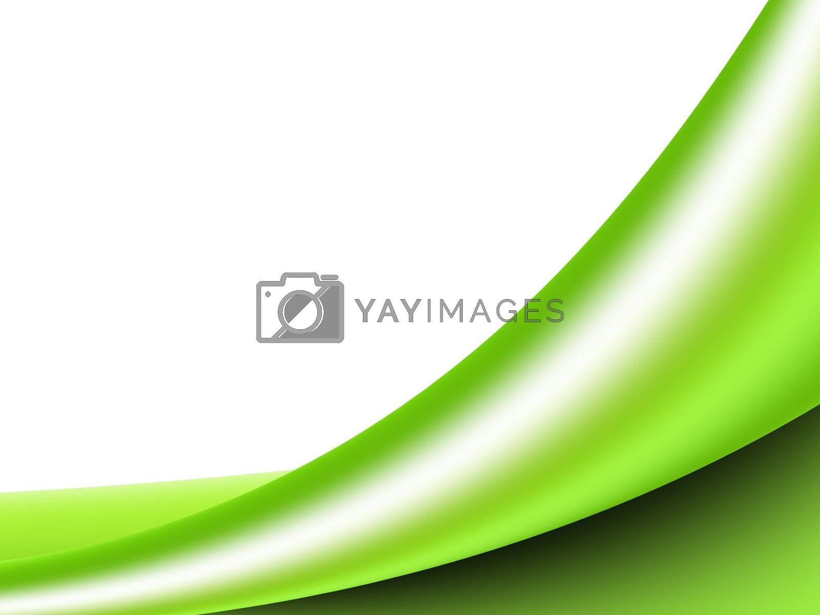 green background dynamic wave